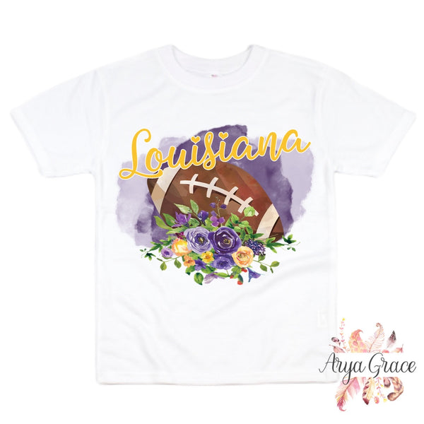Louisiana Football Style Graphic Tee {Infant/Toddler/Youth}