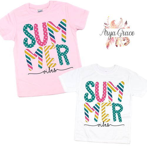 Summer Vibes Graphic Tee {Infant/Toddler/Youth Sizing}