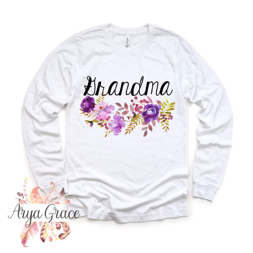 Violet Floral Bouquet Graphic Tee {Unisex Adult Sizing}