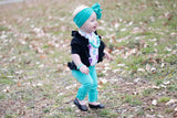 Turquoise Button Leggings