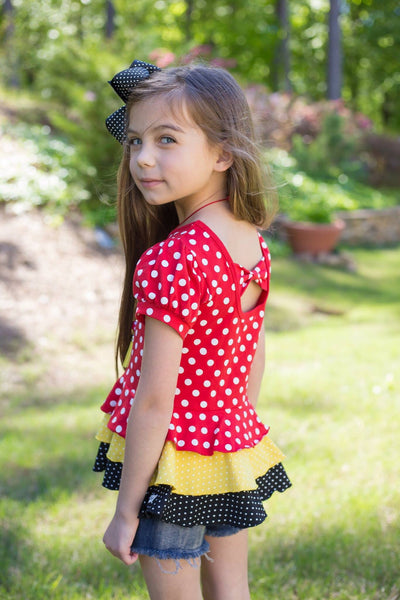 Miss Mouse Peplum Top