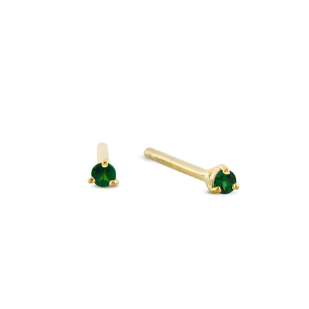 Signature Black Spinel Studs. Gold Vermeil