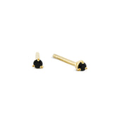 Signature Black Spinel Studs. Gold Vermeil - MONARC CONCIERGE