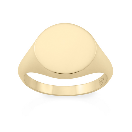 Tondo Signet Ring. Sterling Silver