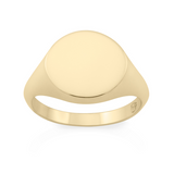 Tondo Signet Ring. 9k Yellow Gold - MONARC CONCIERGE
