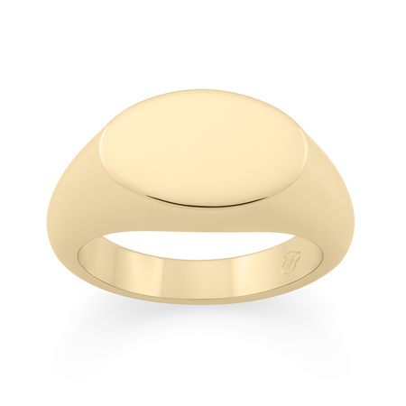 Tondo Signet Ring. 9k Yellow Gold
