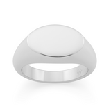 Ellipse Signet Ring. Sterling Silver - MONARC CONCIERGE