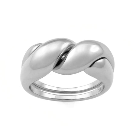 Courbure Ring. Sterling Silver