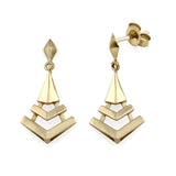 Montezuma Prism Drop Earrings. 9k Yellow Gold - MONARC CONCIERGE
