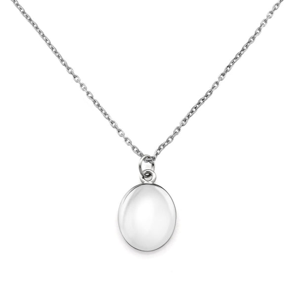 Initial Coin Necklace. Sterling Silver - MONARC CONCIERGE