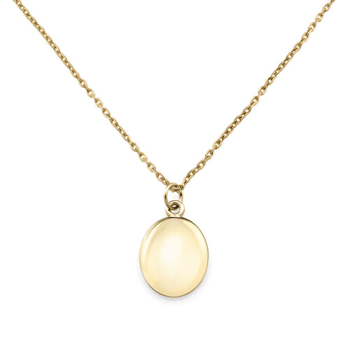 Initial Coin Necklace. 9k Yellow Gold - MONARC CONCIERGE