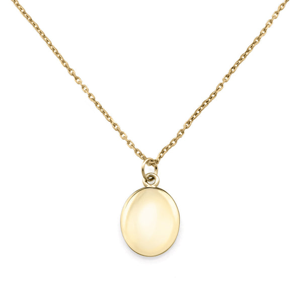 Initial Coin Necklace. 9ct Yellow Gold
