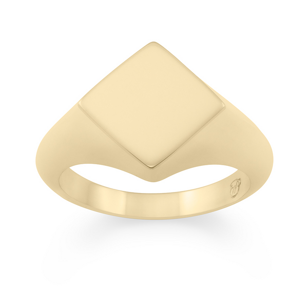 Rhembo Signet Ring. 9ct Yellow Gold - MONARC CONCIERGE