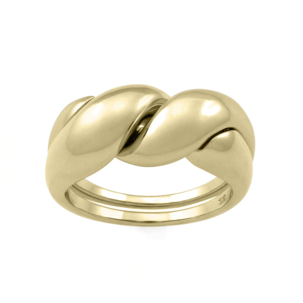 The Puzzle Ring. 9ct Yellow Gold