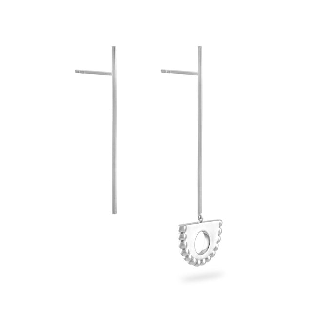 Berber Pendulum Drop Earrings. Sterling Silver - MONARC CONCIERGE