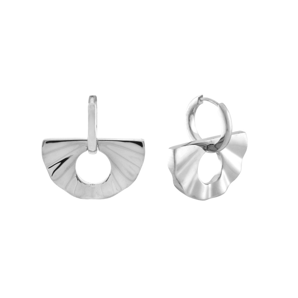 The 2-in-1 Fan Huggie Hoops. Sterling Silver. PRE-ORDER - MONARC CONCIERGE