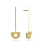 Arc Pendulum Drop Earrings. Gold Vermeil - MONARC CONCIERGE