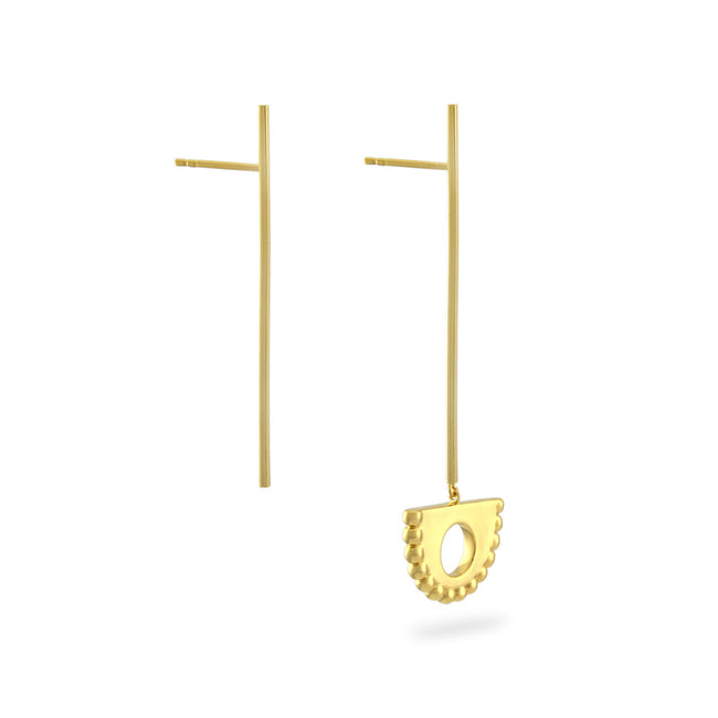 Berber Pendulum Drop Earrings. Gold Vermeil - MONARC CONCIERGE