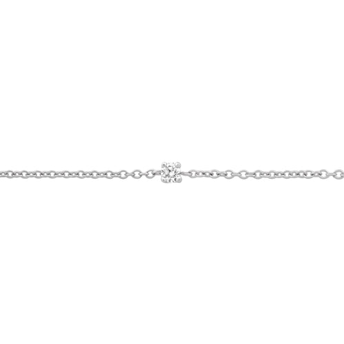 BONDED DIAMOND-SET CABLE CHAIN, 9k White Gold
