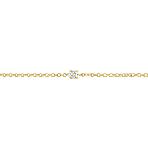 BONDED DIAMOND-SET CABLE CHAIN, 9k Yellow Gold