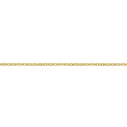 BONDED CABLE CHAIN, 9k Yellow Gold