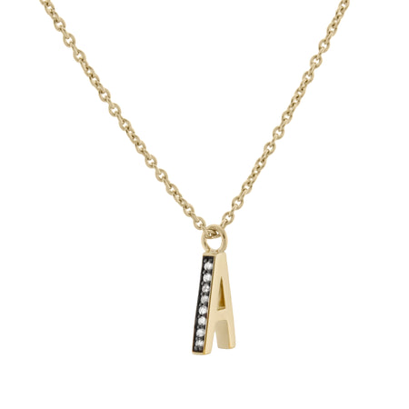 Initial Coin Necklace. 9k Yellow Gold