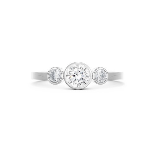 Aurela Diamond Trilogy Ring. White Gold or Platinum - MONARC CONCIERGE
