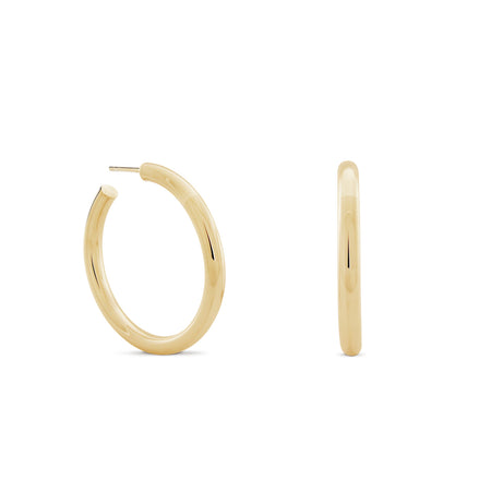 Corda Baroque Pearl Hoop Earrings. Sterling Silver