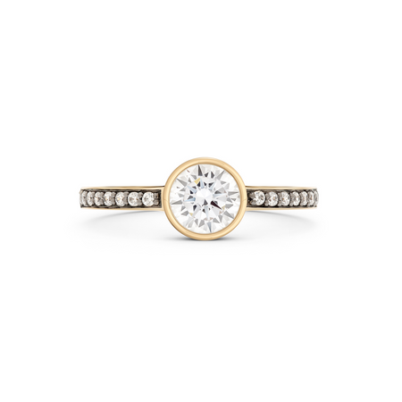 Aurela Diamond Trilogy Ring. White Gold or Platinum