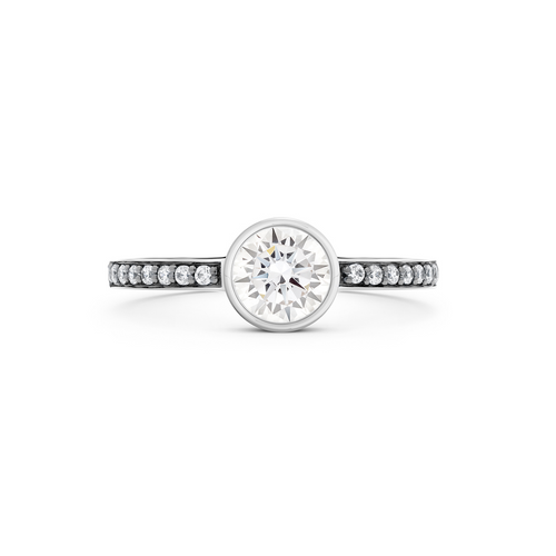 Cleopatra Diamond Ring. 18k White Gold or Platinum - MONARC CONCIERGE