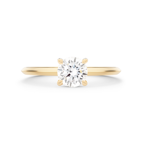 Coeur Diamond Solitaire Ring. 18k Yellow Gold - MONARC CONCIERGE