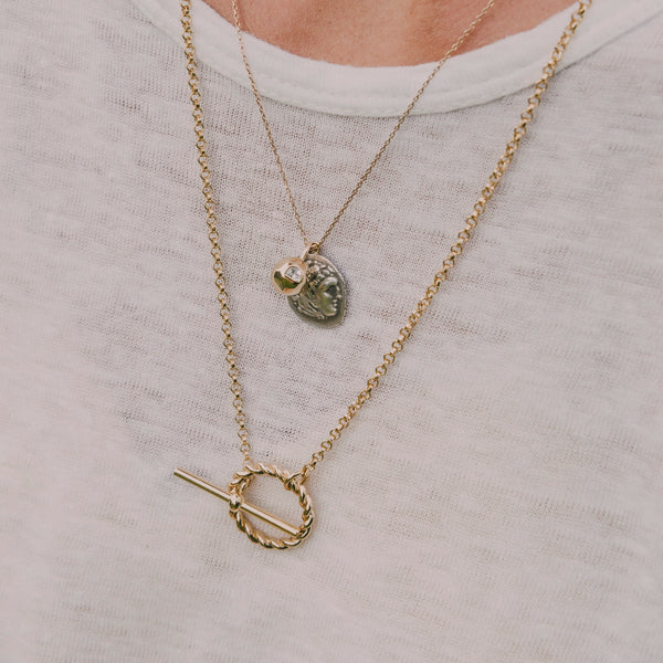 Corda T-Bar Necklace. Gold Vermeil. - MONARC CONCIERGE