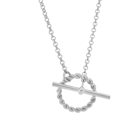Signature Disc Necklace. Sterling Silver.