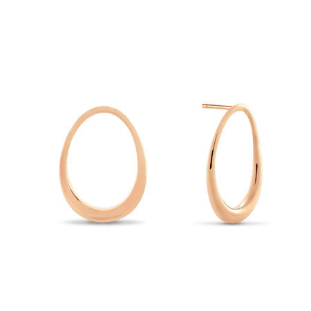 Courbure Hoop Earrings. Sterling Silver
