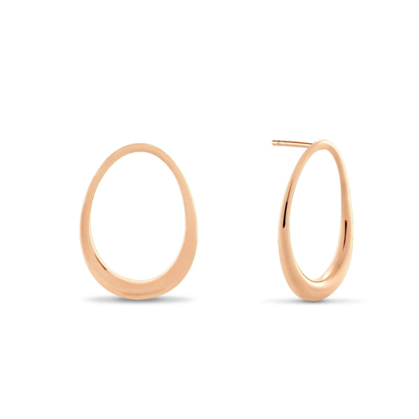 L'Ovale Earrings. Rose Gold Vermeil - MONARC CONCIERGE