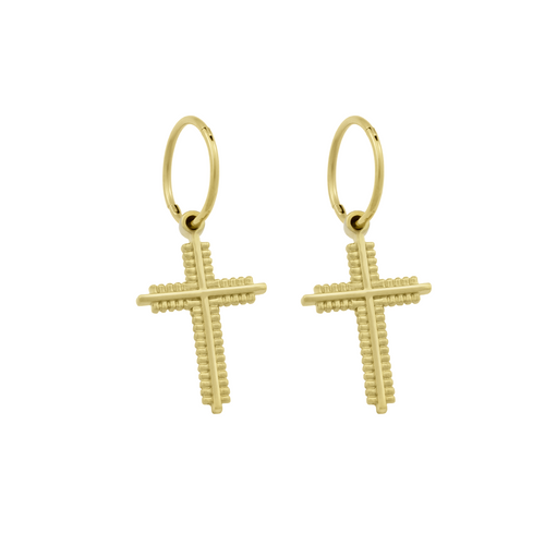 Endless Cruz Hoops. Gold Vermeil - MONARC CONCIERGE