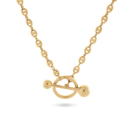 H Medaille d'Amour Alphabet Necklace. 9k Gold & Diamond