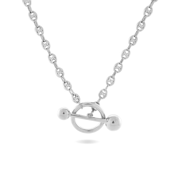 Dagny T-Bar Necklace, Sterling Silver