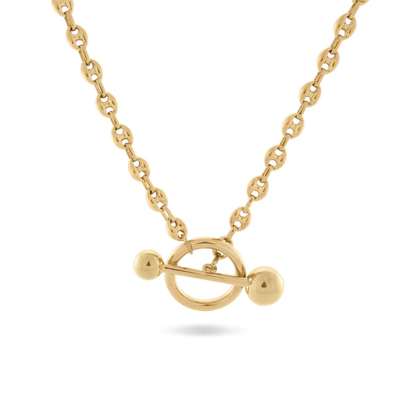 Dagny T-Bar Necklace, Gold Vermeil - MONARC CONCIERGE