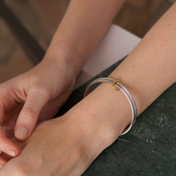 Duo Bangle & Gamma Charm. Two-tone - MONARC CONCIERGE