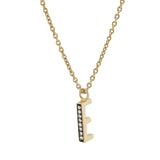 E Medaille d'Amour Alphabet Necklace. 9k Gold & Diamond - MONARC CONCIERGE