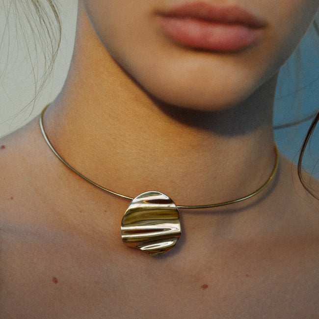 L'Eau Collar Necklace. Gold Vermeil - MONARC CONCIERGE