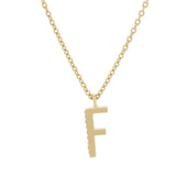 F Medaille d'Amour Alphabet Necklace. 9k Gold & Diamond - MONARC CONCIERGE