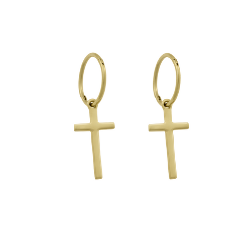 Endless Georgie Cross Hoops. Gold Vermeil. PRE-ORDER - MONARC CONCIERGE