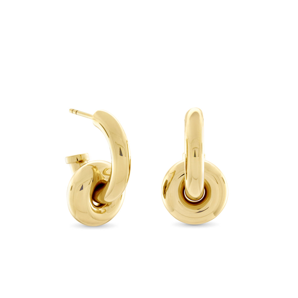 Hermione Hoop Earrings, Gold Vermeil - MONARC CONCIERGE