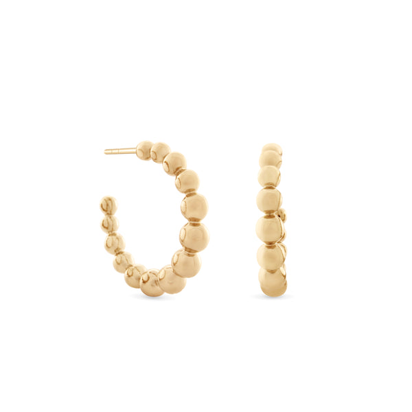 Holiday Hoop Earrings. Gold Vermeil - MONARC CONCIERGE