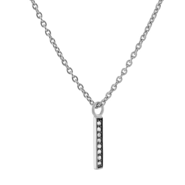 Medaille d'Amour Alphabet Necklaces. Silver & Diamond - MONARC CONCIERGE