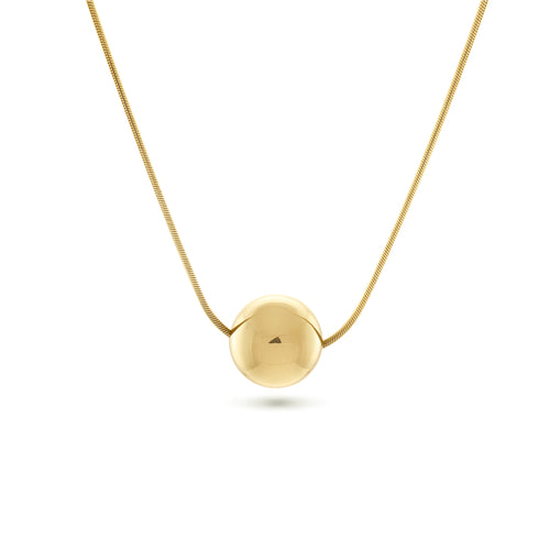 Josephine Orb Necklace, Gold Vermeil - MONARC CONCIERGE