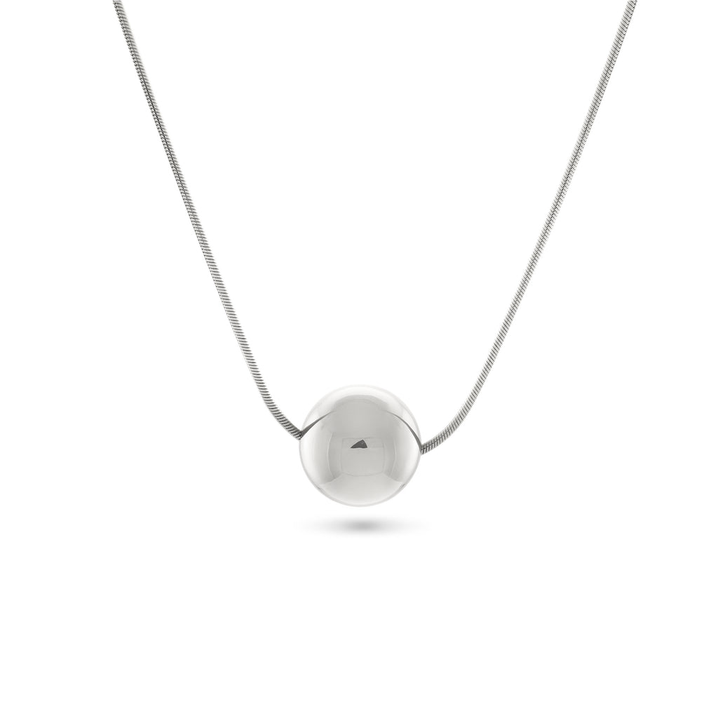 Josephine Orb Necklace, Sterling Silver - MONARC CONCIERGE