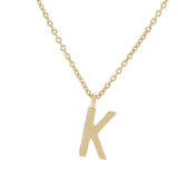 K Medaille d'Amour Alphabet Necklace. 9k Gold & Diamond - MONARC CONCIERGE